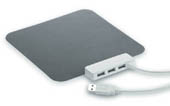Softy. Soft Touch Mousepad mit 3 port USB 1.0 Hub